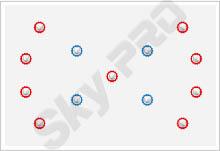 30 - Схема расположения точечных светильников на натяжном потолке