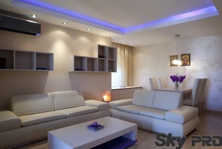 Парящий потолок с подсветкой фото
